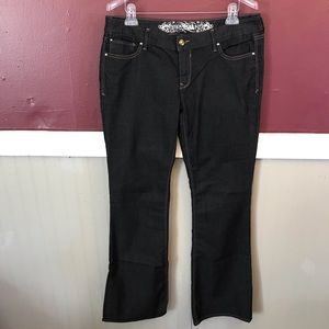 Express Stella boot cut low rise jeans size 12